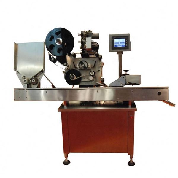 Máquina rotuladora de frascos redondos de 10-50ml para batons de cosméticos