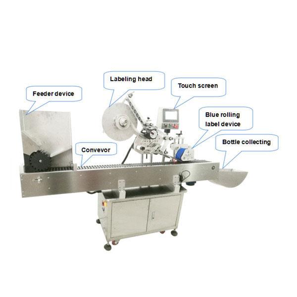 Máquina de rotulagem automática de adesivos autoadesivos com garrafa redonda pequena de 10ml