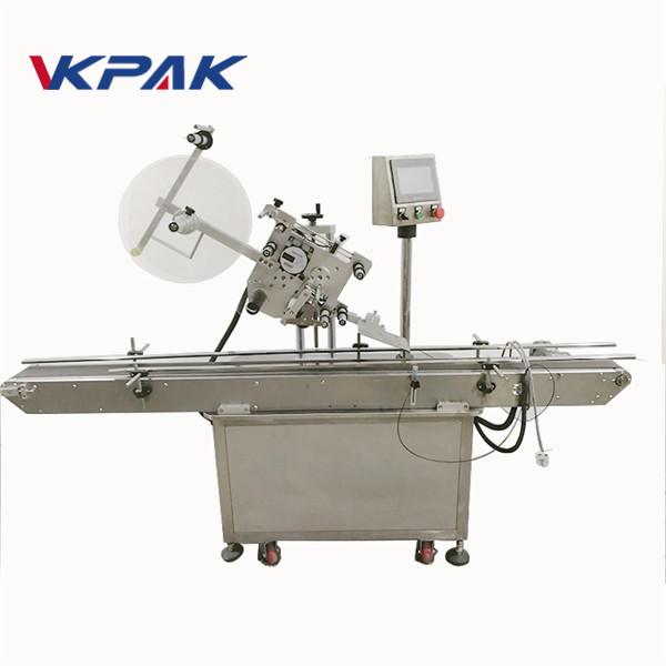 Etiqueta superior da máquina de rotulagem de superfície plana de tipo adesivo para tampa
