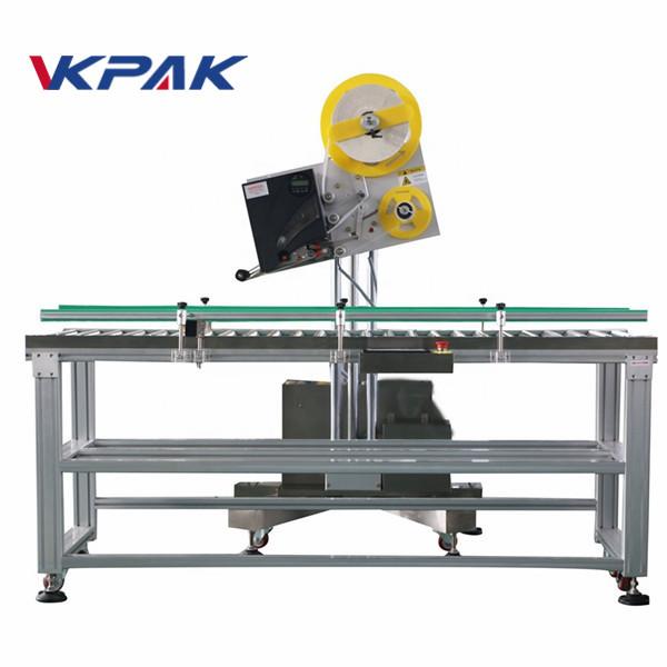 Aplicador de etiqueta industrial de envelope automático para caixa de papel de produção em pequena escala
