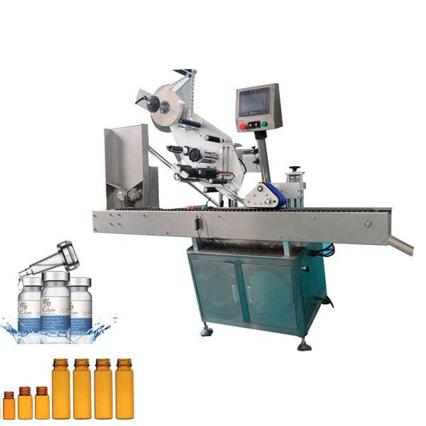 Máquina automática de rotulagem de frascos de goma de mascar para garrafa redonda pequena de 10ml