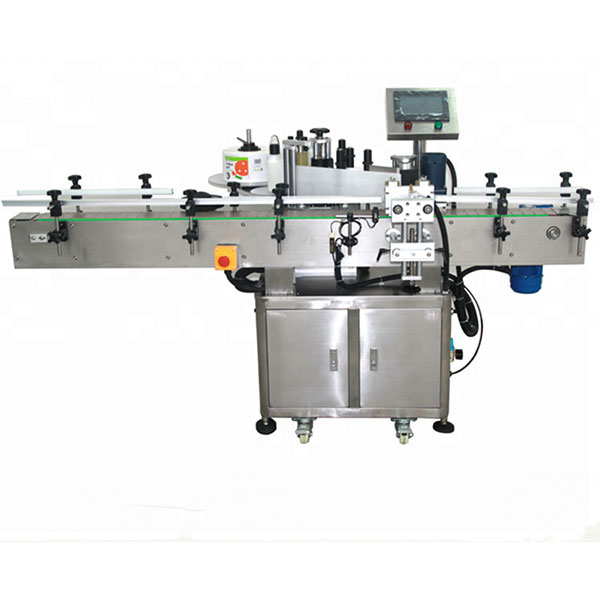 Máquina automática de rotulagem de adesivo frente e verso Garrafa plana quadrada garrafa redonda