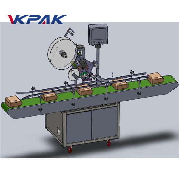 Máquina de rotulagem de topo com alimentação automática