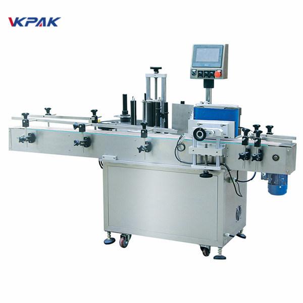 Máquina aplicadora automática de rótulos para garrafas redondas