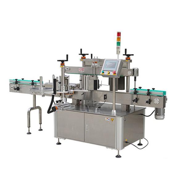 Máquina automática de rotulagem de adesivos para garrafas redondas com impressora de data
