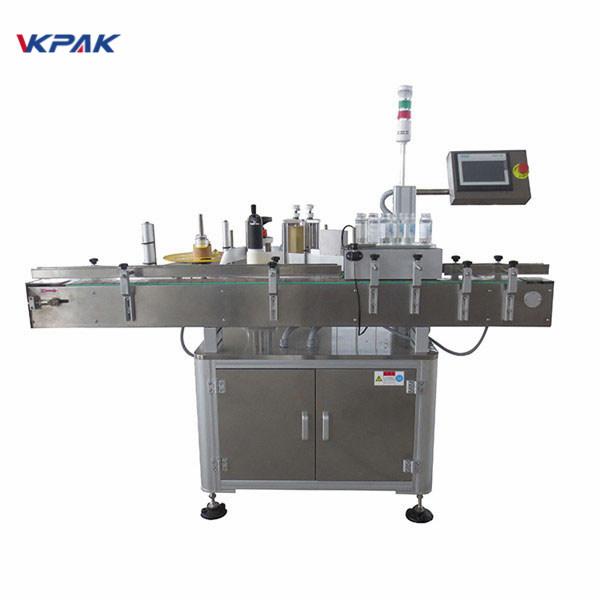 Máquina de rotulagem de adesivos para garrafas redondas CE para bebidas PET