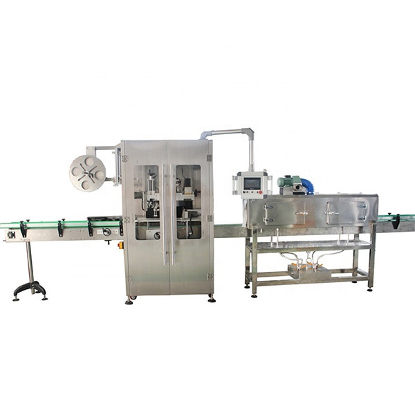Máquina de rotulagem de luva retrátil de aço inoxidável de dupla face para várias garrafas