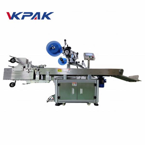 Máquina de etiquetagem de saco de etiqueta automática de superfície plana completa