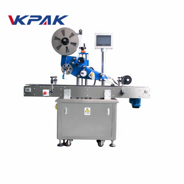 Máquina de rotulagem automática de adesivos GMP elétrica plana para garrafa plana