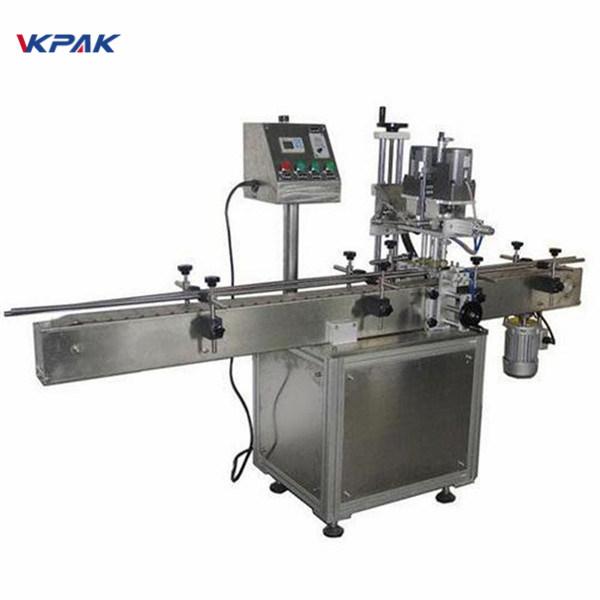 Máquina rotuladora industrial de garrafas redondas de dupla face para produtos cosméticos