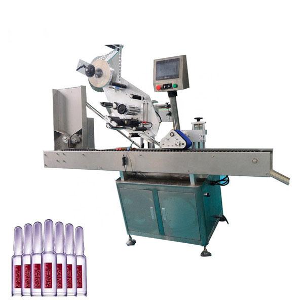 Máquina automática de etiquetagem de frascos de cosméticos econômica Sus304 de controle inteligente