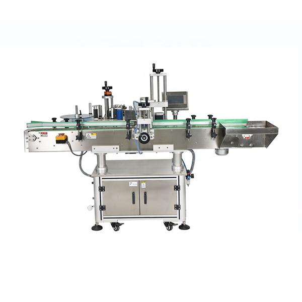 Máquina de etiquetagem automática de etiquetas de dois lados com controle inteligente PLC