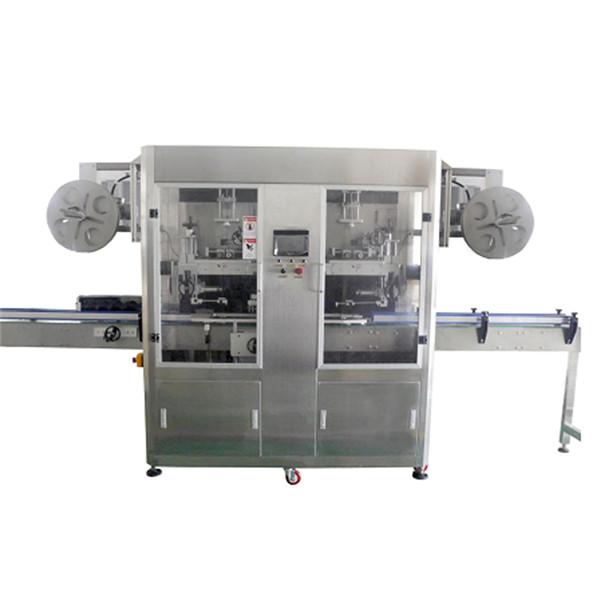 Máquina de rotulagem de luva retrátil de garrafa PET de aço inoxidável para várias garrafas CE