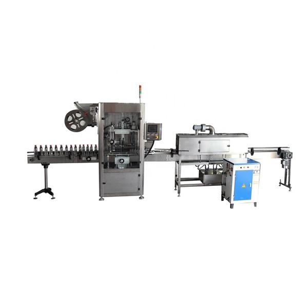 Máquina aplicadora de etiqueta com luva retrátil inoxidável funcional PET