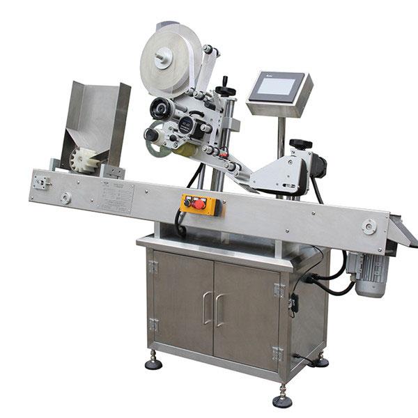 Máquina aplicadora de etiqueta de controle de tela de toque PLC