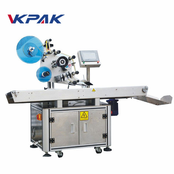 Máquina aplicadora de etiqueta de superfície plana de saco poli