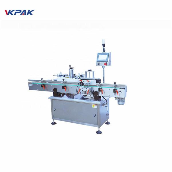 Máquina aplicadora de etiqueta de superfície plana de garrafa redonda com cola fria