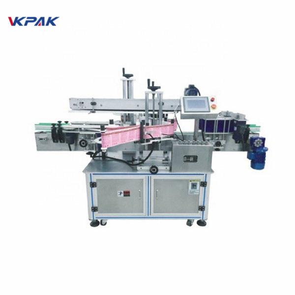 Máquina aplicadora de etiqueta de adesivo autoadesivo para rotulagem de frascos de xampu