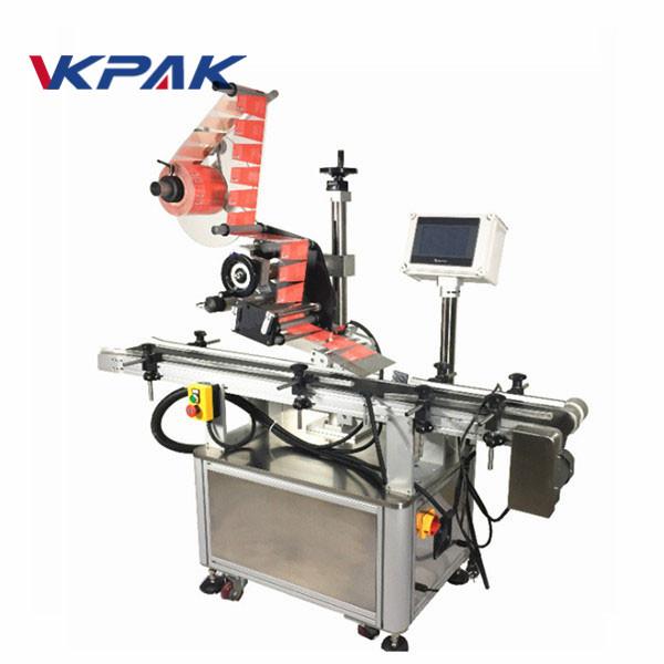 Máquina de rotulagem autoadesiva superior para jarra
