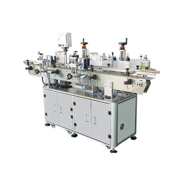 Máquina de rotulagem de adesivos para frascos de cosméticos com shampoo 30-100 mm de comprimento do recipiente