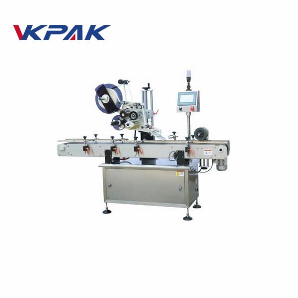 Máquina de rotulagem industrial de superfície plana Siemens PLC
