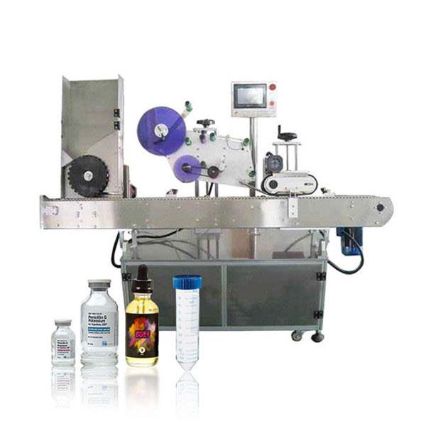Máquina de rotulagem horizontal automática Siemens Plc Vial servo-controlador