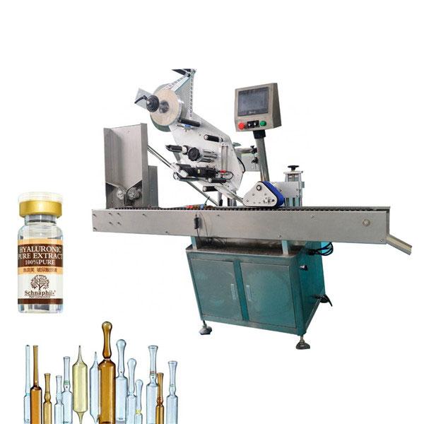 Máquina de rotulagem de adesivos para frascos pequenos redondos para garrafas de 10ml