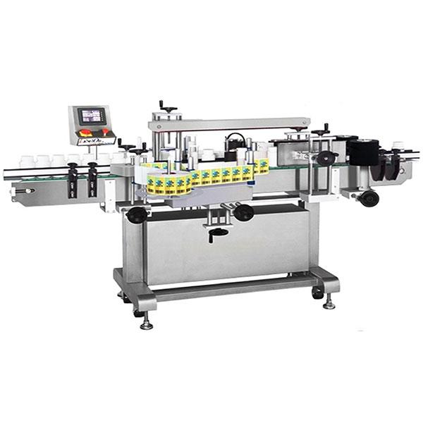 Máquina de rotulagem de garrafas de vinho frente e verso