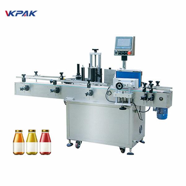 Máquina de rotulagem automática de garrafas redondas para garrafas de vinho