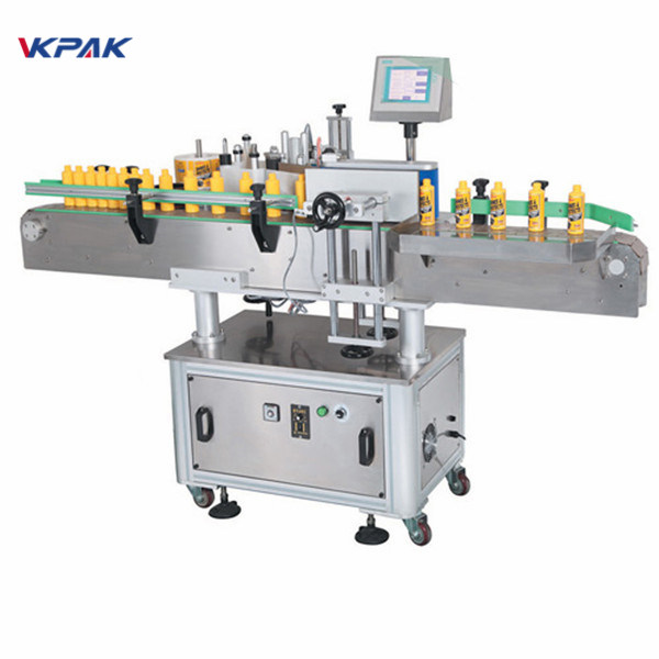 Máquina de rotulagem de adesivos para garrafas redondas de vinho para cerveja artesanal, destilados