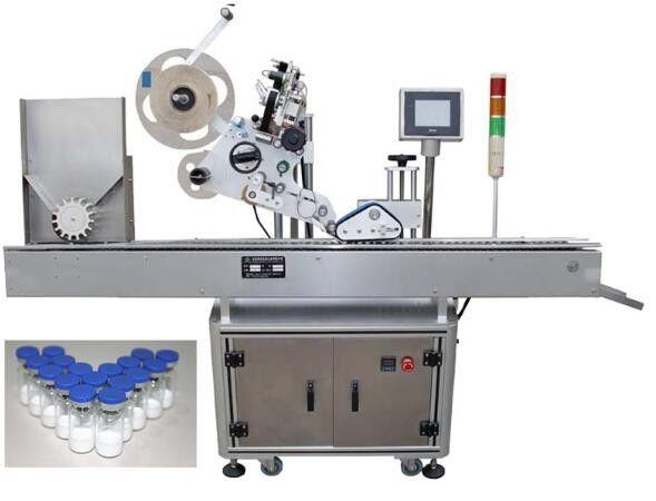 Máquina de rotulagem de garrafa pequena de 10ml para produtos farmacêuticos