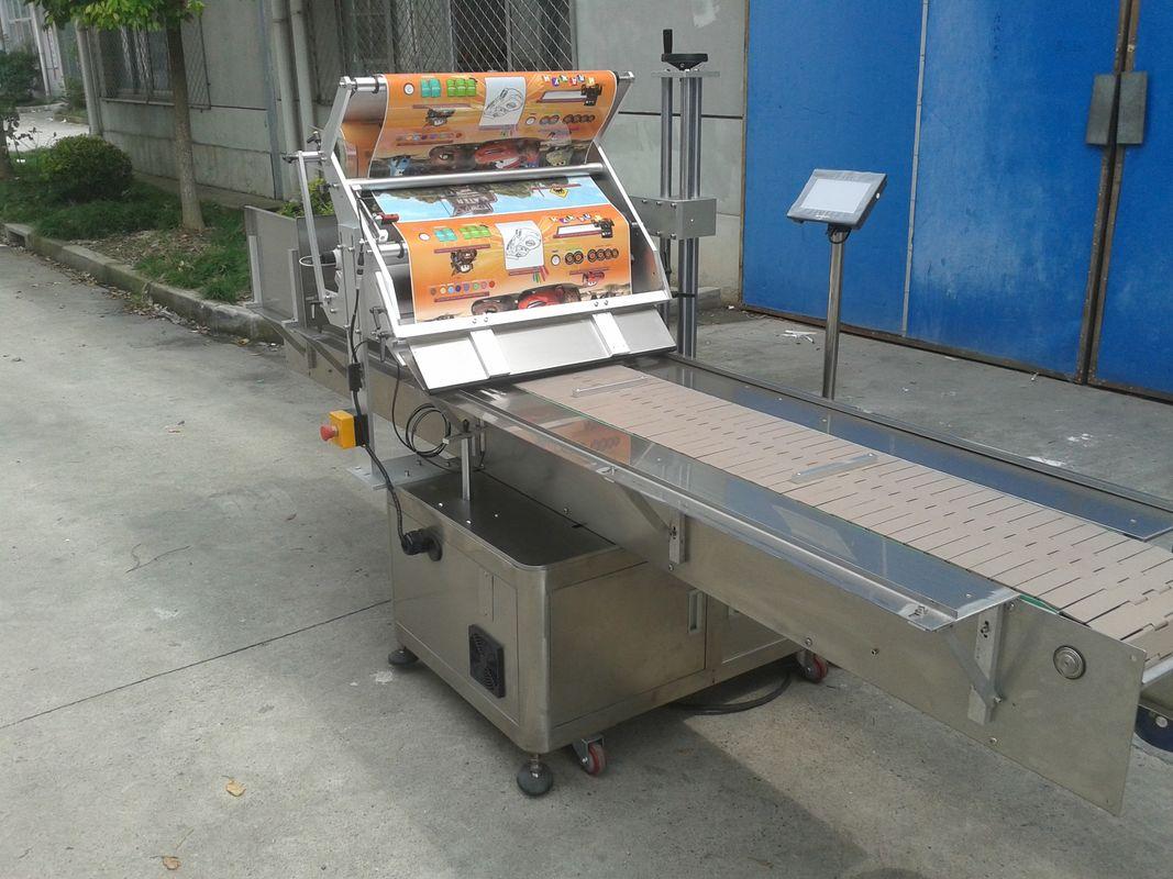 Aplicador de etiqueta de superfície plana de adesivo autoadesivo de mesa com máquina de paginação