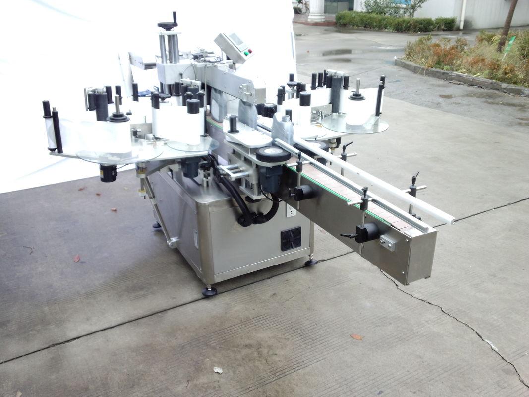 Máquina automática de rotulagem de adesivos de dois lados com frente e verso
