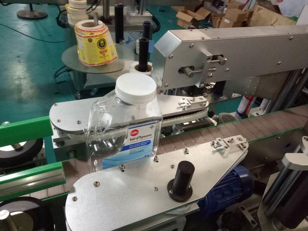 Máquina de rotulagem de adesivos de garrafa quadrada de dois lados para produtos de higiene pessoal