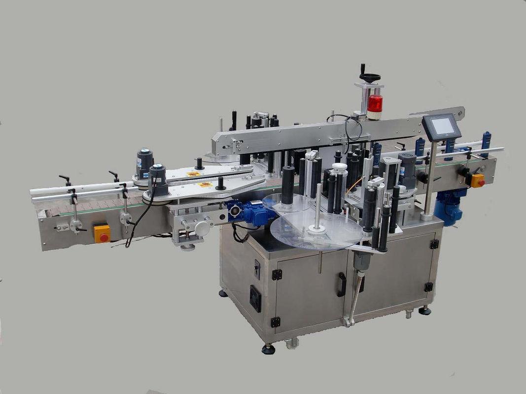 Máquina automática de rotulagem de adesivos de dupla face com dispositivo de paginação e máquina de codificação
