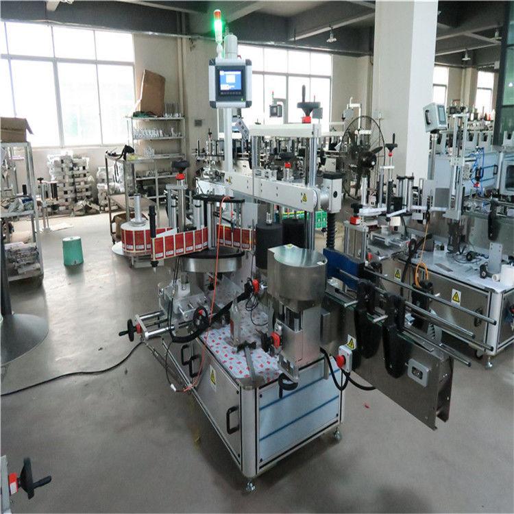 Máquina rotuladora de garrafa plana de alta velocidade de dois lados para cosméticos / bebidas