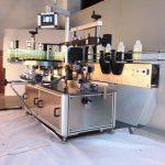 Rotuladora de garrafas quadradas para bebidas Rotuladora de adesivos dupla face