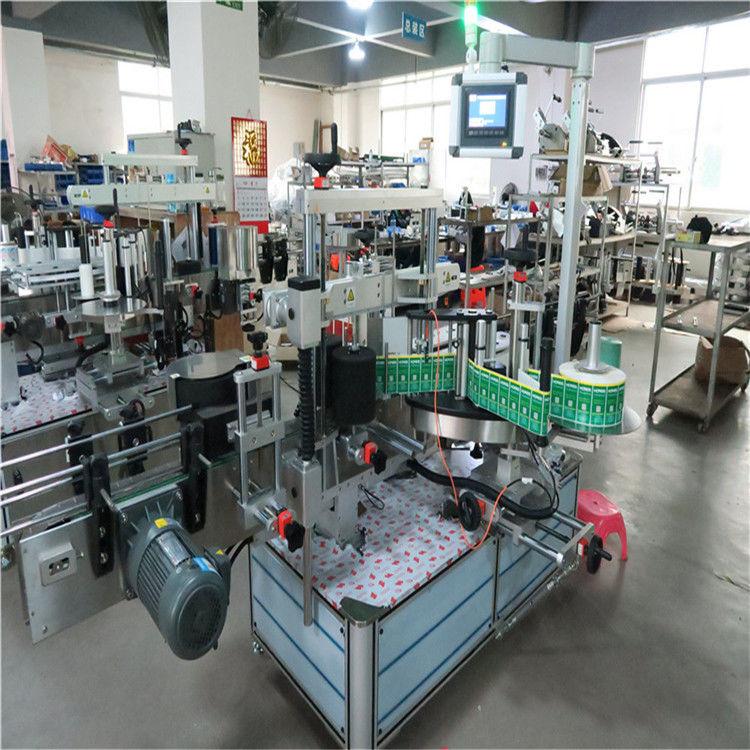 Máquina de etiquetagem de garrafas quadradas de aplicador automático de etiquetas