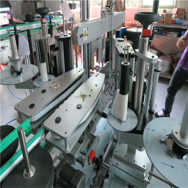 Máquina de etiquetar frente e verso para garrafas de água