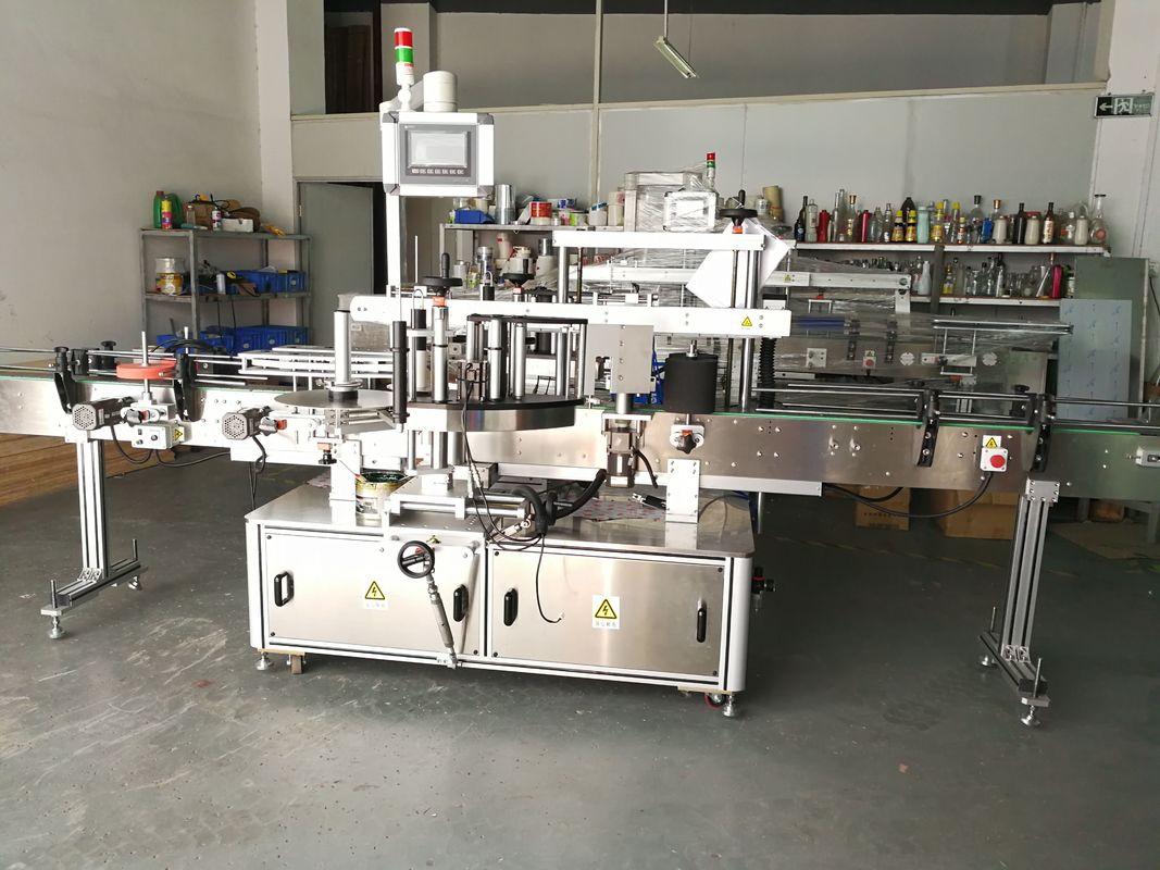 Máquina de rotulagem de garrafas redondas / aplicador de rótulos de superfície plana totalmente automático