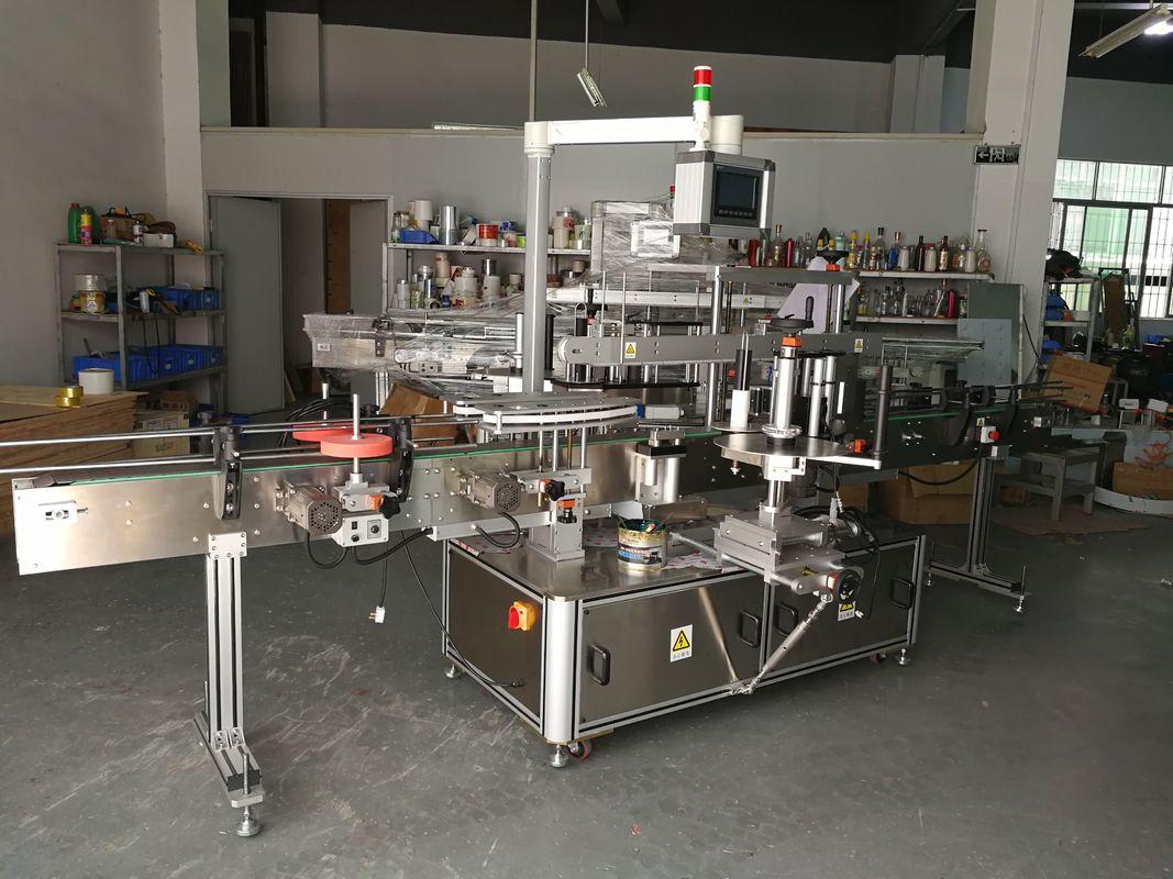 Máquina de rotulagem de garrafa plana multifuncional de alta precisão com acionamento elétrico