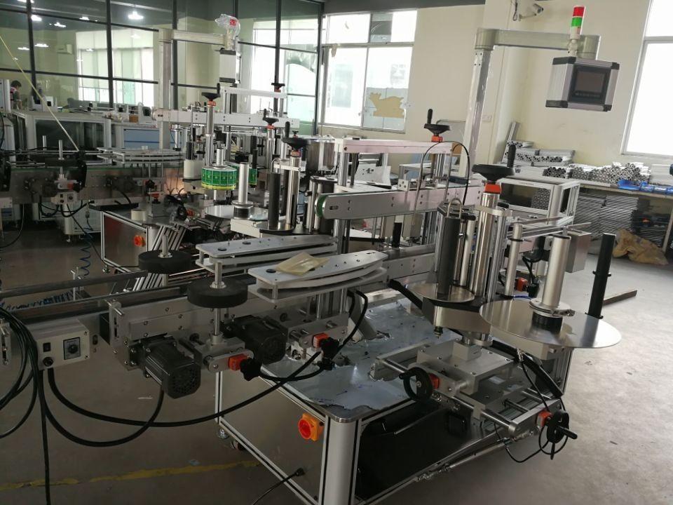 Sistema de rotulagem de selo de canto duplo de alta velocidade para embalagens farmacêuticas
