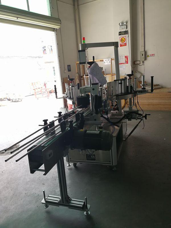 Máquina de rotulagem frontal e traseira de adesivos em garrafa oval / retangular / quadrada
