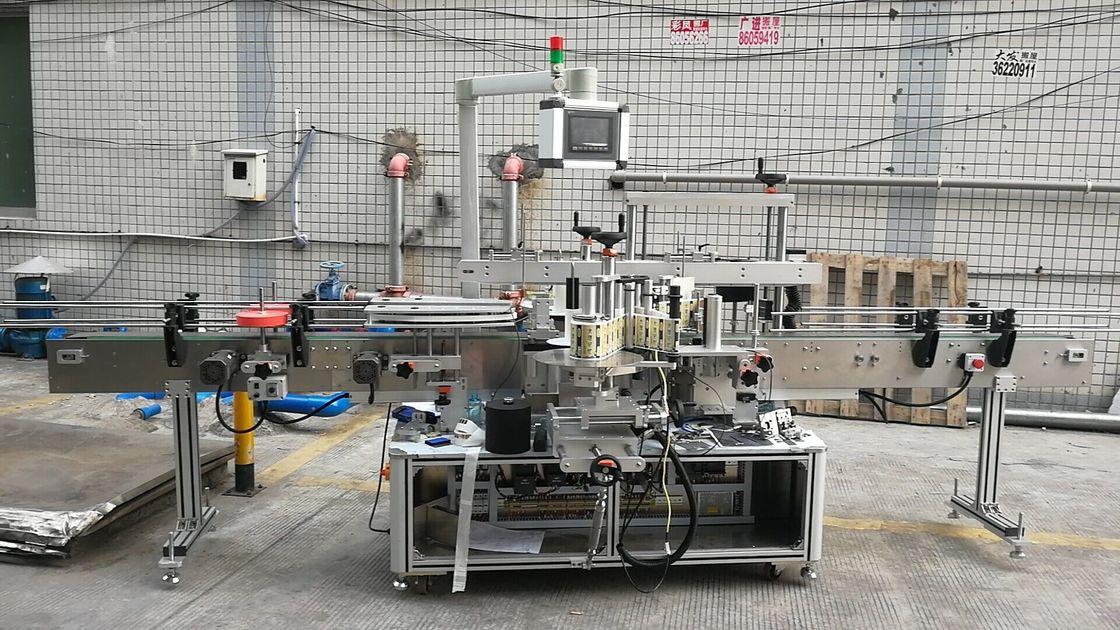 Máquina automática de rotulagem de garrafas quadradas com adesivo lado duplo