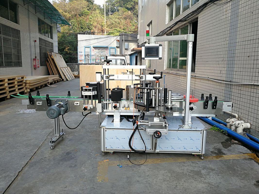 Máquina de etiquetagem de garrafa plana de adesivos automática integrada frente e verso