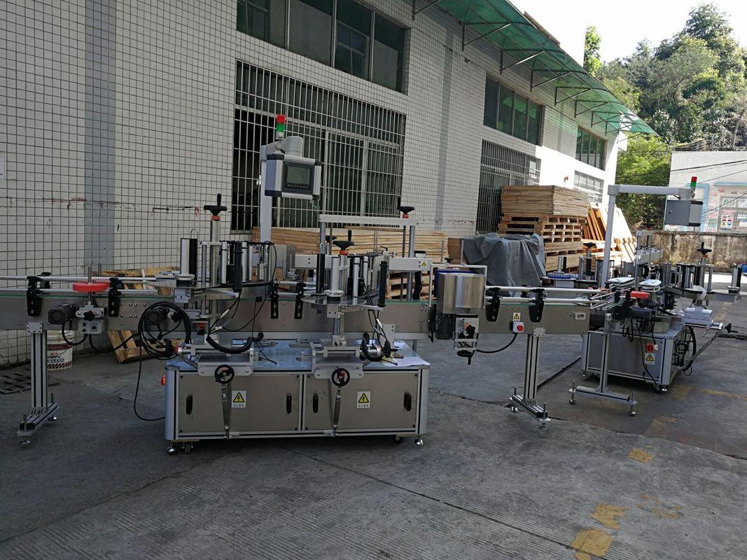 Máquina de rotulagem de adesivos para garrafas planas / quadradas, capacidade totalmente automática de 5000-8000B / H