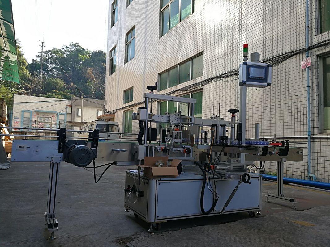 Máquina de rotulagem de garrafa plana adesiva de um lado de alta precisão